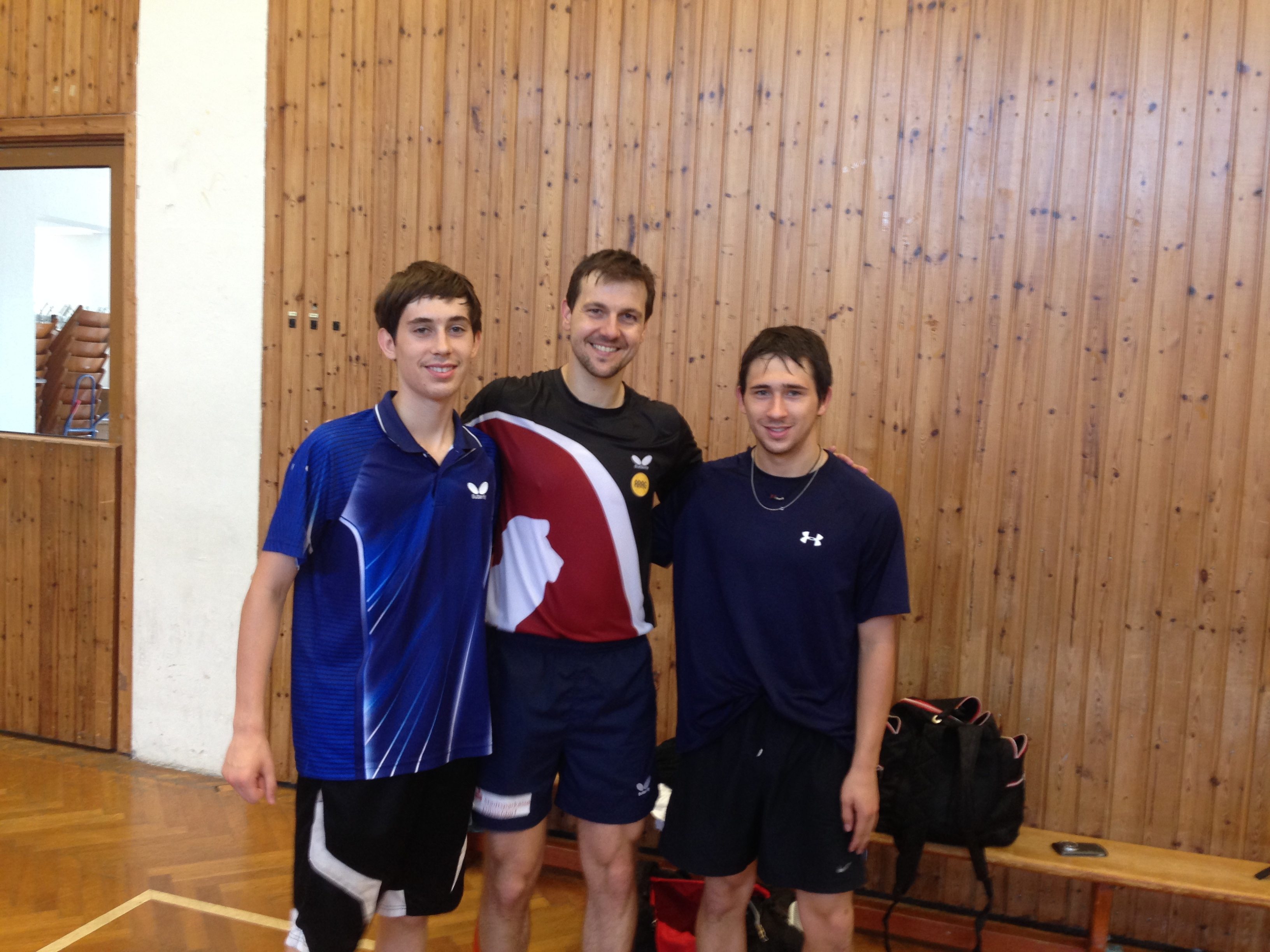 Connor and Chase got to meet Timo Boll (previous world number 1) in Germany thanks to their coach Thomas Keinath.