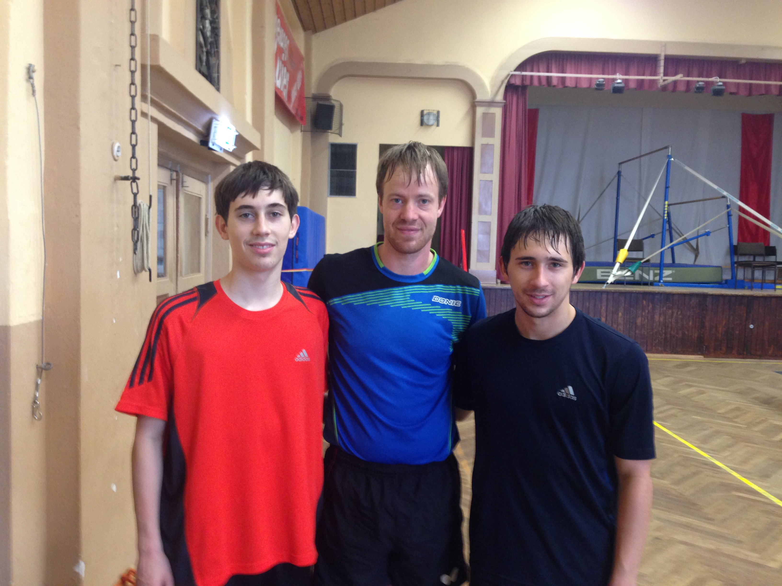 Connor and Chase with German National Team Player Patrick Baum
